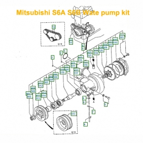 mitsubishi s6a s6b pt s6b pta water pump repair kit mhi swp rh partsfamily net