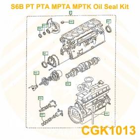 mitsubishi s6b pta s6b pt s6b mptk s6b mpta engine oil seal gask rh partsfamily net