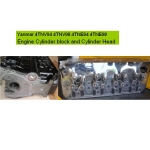 Yanmar 4TNV94 4TNV98 4TNE94 4TNE98 Engine Cylinder head and bloc